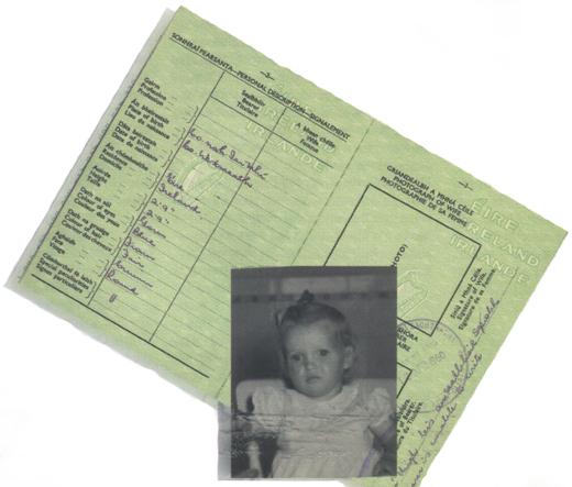 <em>Marie Heshka's Irish passport.</em>