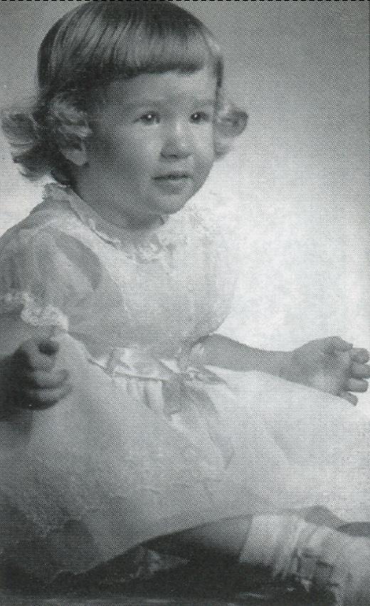 <em>Nancy Ellen Giambalvo at 18 months old.</em>