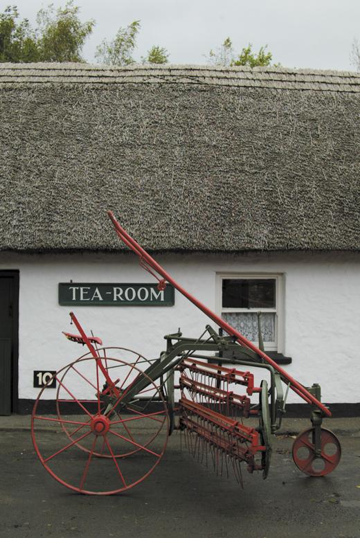 <em>The tea room in Bunratty Village.</em>