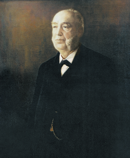 <em>The portrait of Michael Moran, founder of Moran Towing, that hangs in the company's headquarters in Greenwich, Connecticut. It was painted by C.G. Fox.</em>