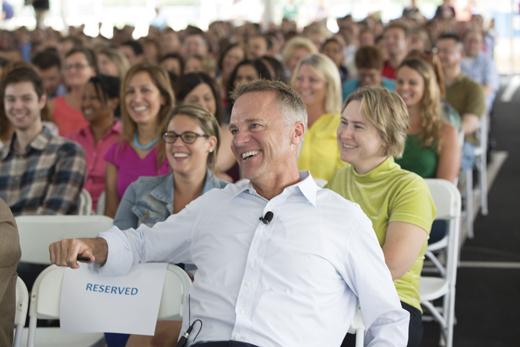 <em>Mike at Everyone Makes an Impact employee celebration.</em>