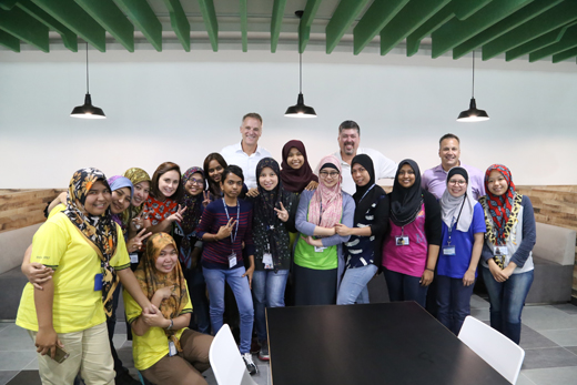 <em>Mahoney with team for the opening of the Penang Malaysia facility.</em>