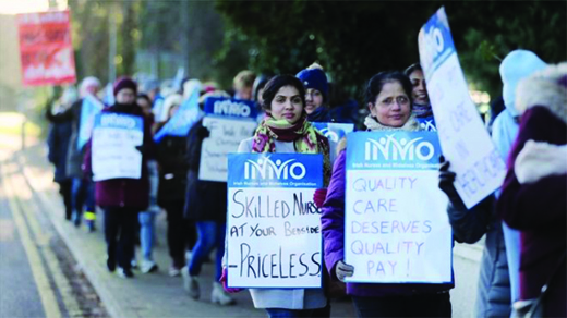Nurses picketing in Ireland.