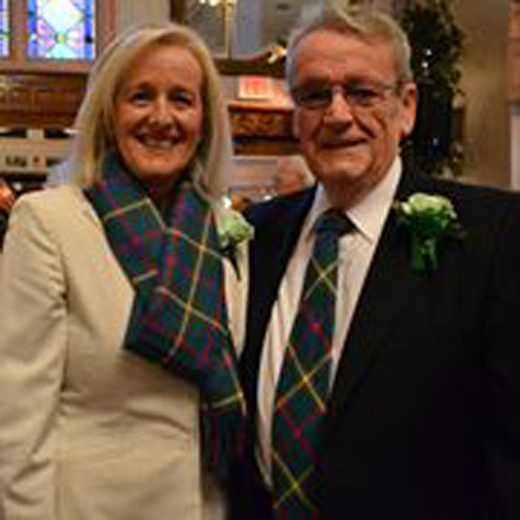 <em>Adrian Flannelly and his wife, Aine Sheridan, were recipients of the 2012 Holyoke St. Patrick's Parade Committee's Ambassador Award.</em>