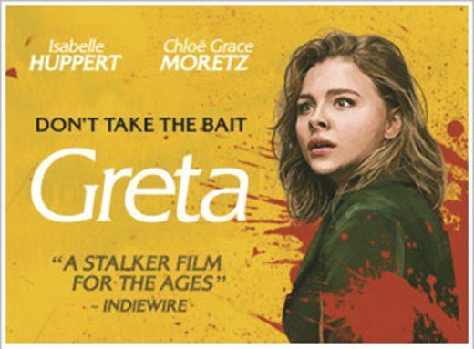 Greta stars Chloë Grace Moretz and Isabelle Huppert.
