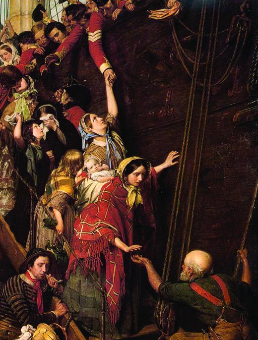 <em>Henry Nelson O'Neil's painting</em> Eastward, Ho!