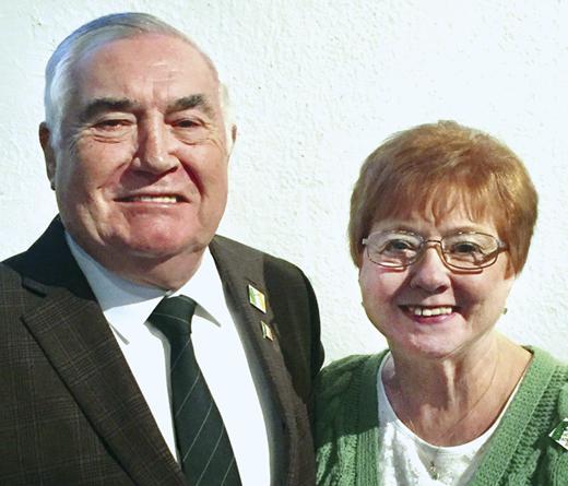 <em>Detroit's grand marshals, Paul and Agnes Gowdy.</em>