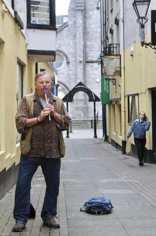 A Galway street busker.