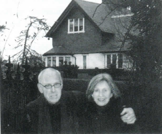 <em>Barney Rosset and Astrid Myers at Foxrock, Beckett's birthplace.</em>