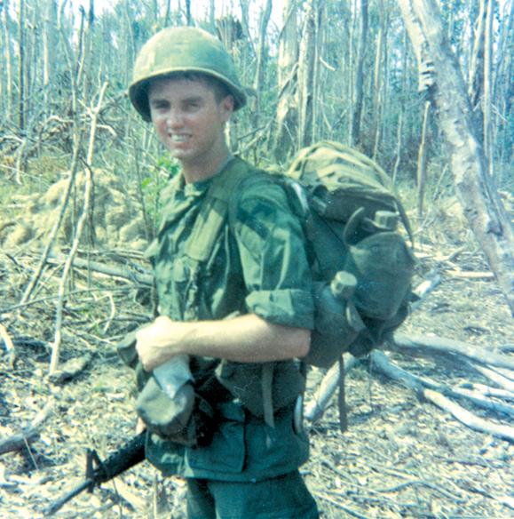 <em>Larry Connors in Vietnam.</em>