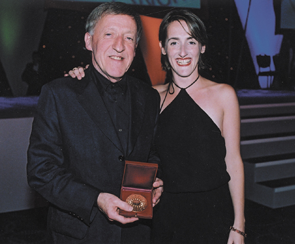 <em>Paddy with his daughter, Aedin Welch.</em>