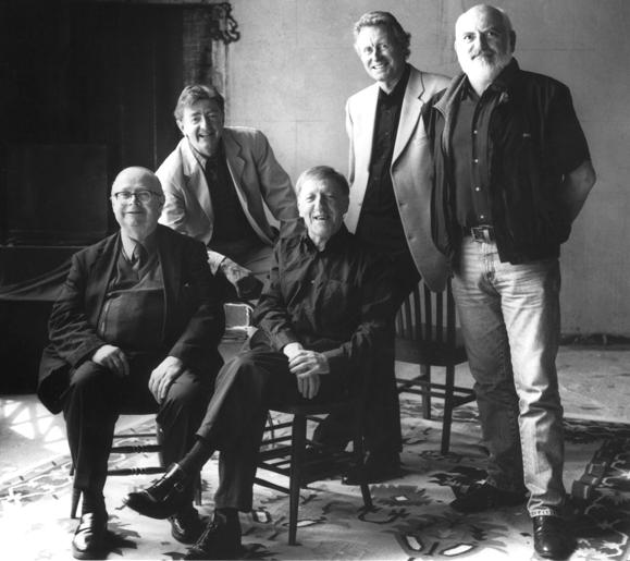 <em>The original Chieftains- Derek Bell, Kevin Conneff, Paddy Moloney, Sean Keane and Matt Molloy.</em>