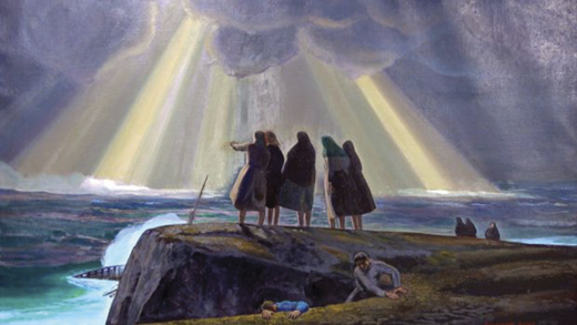 """""""Shipwreck"""" by Rockwell Kent. Courtesy of the Plattsburgh State Art Museum."""