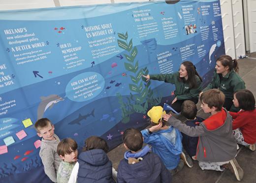 Children enjoying one of the many exhibits.