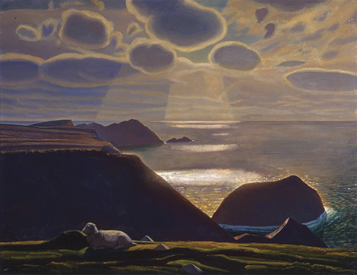 """""""Sturrall,"""" Donegal, by Rockwell Kent, 1927."""